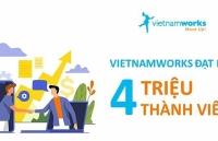 vietnamworks dat moc 4 trieu thanh vien dang ky