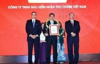 chubb life viet nam top 10 doanh nghiep bao hiem nhan tho uy tin nam 2019