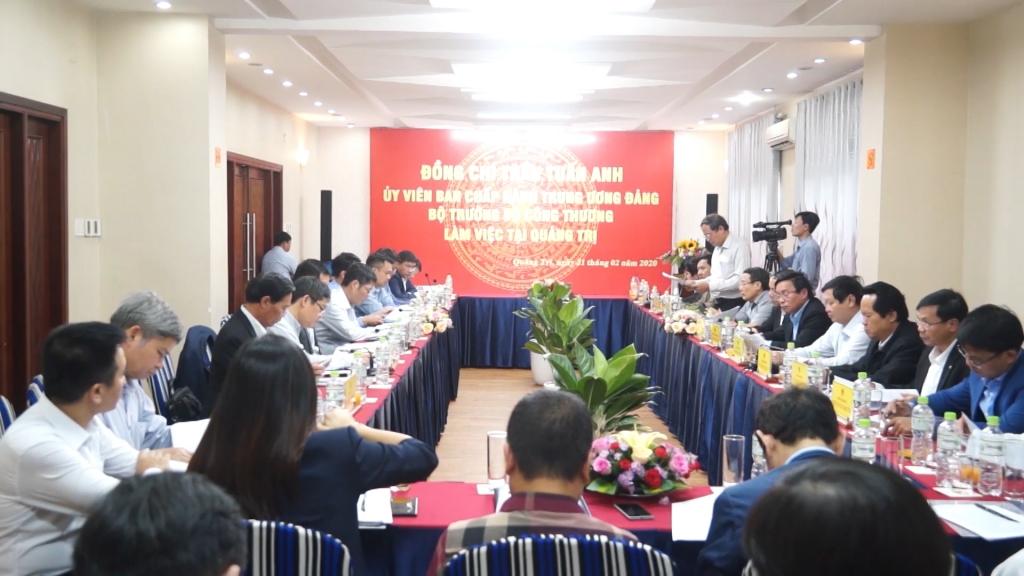 Bộ trưởng Trần Tuấn Anh: Quảng Trị có điều kiện rất tốt để trở thành trung tâm năng lượng sạch của miền Trung